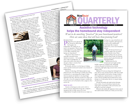 Hometouch Quarterly Newsletter for Homebound Ministry Image